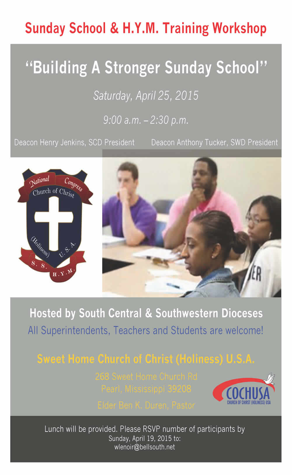Building A Stronger Sunday School @ Sweet Home Church
