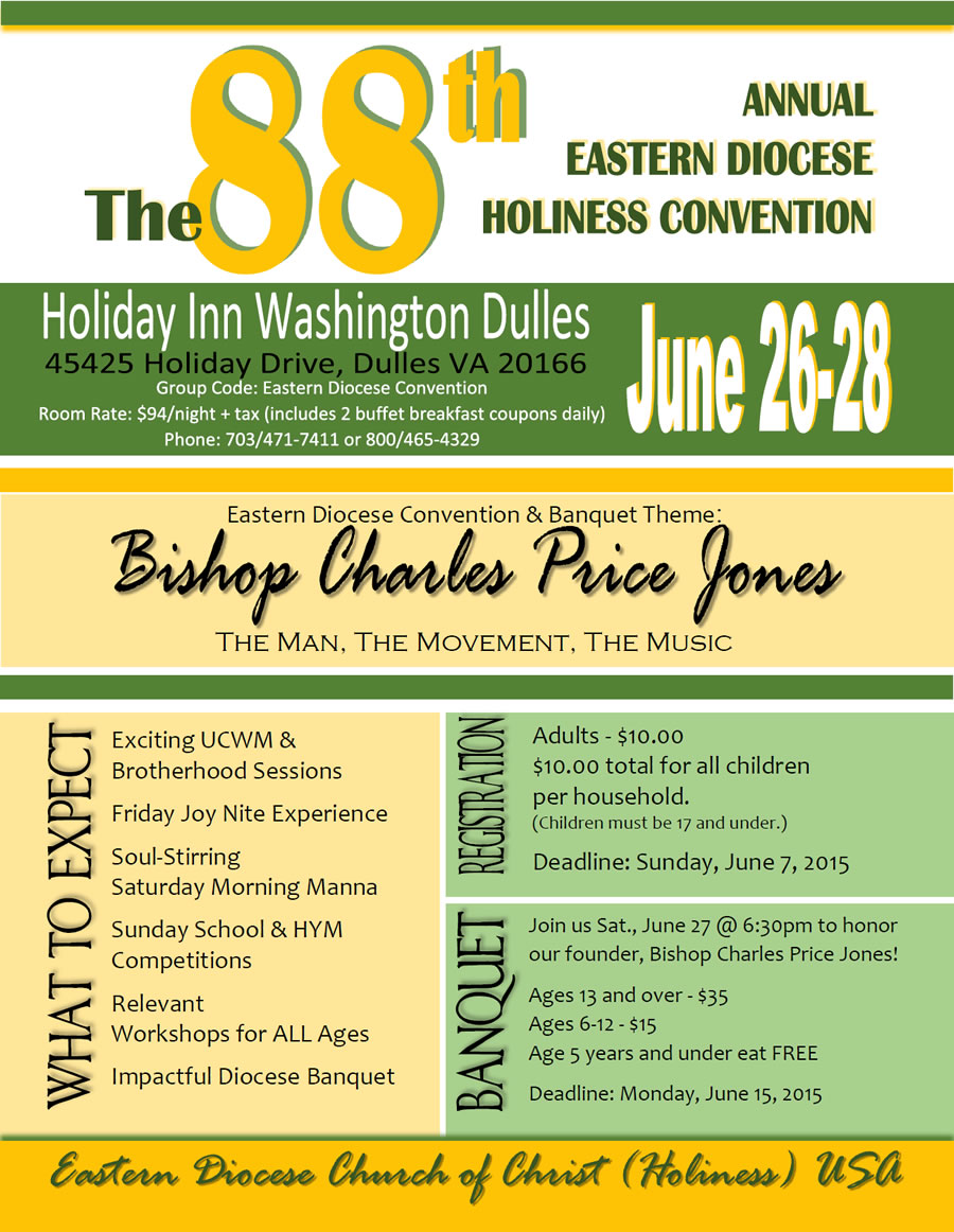 88th Diocese Convention Flyer