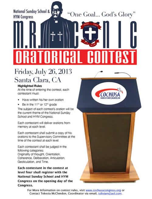 Conic-Oratorical-Contest