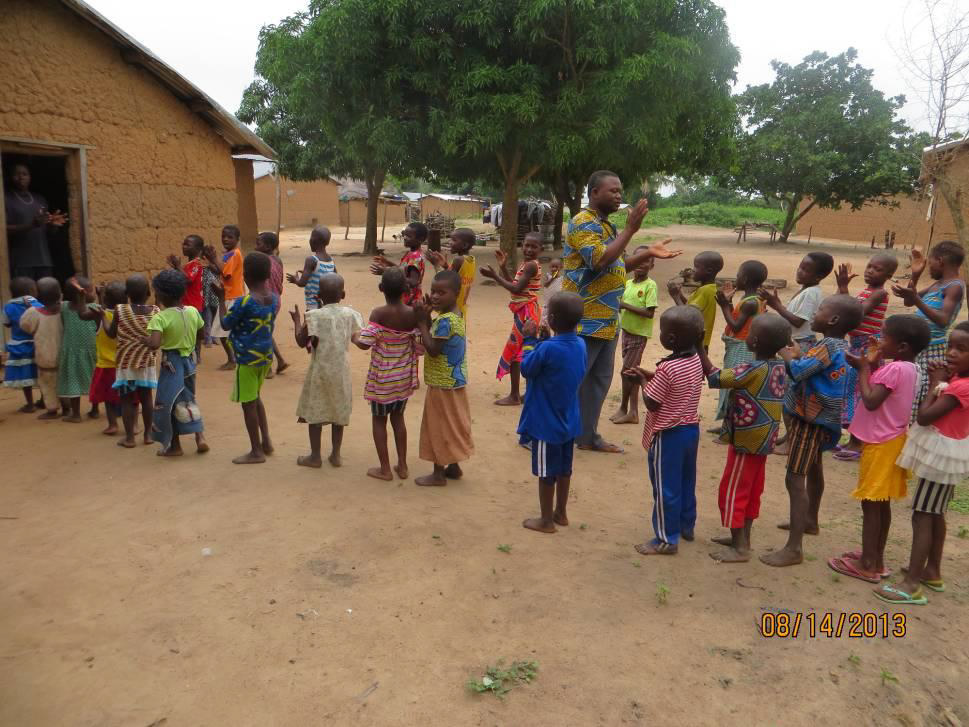 The children eagerly waiting to come inside the church for the VBS activities