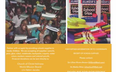 2016 WMB Annual School Supplies Drive