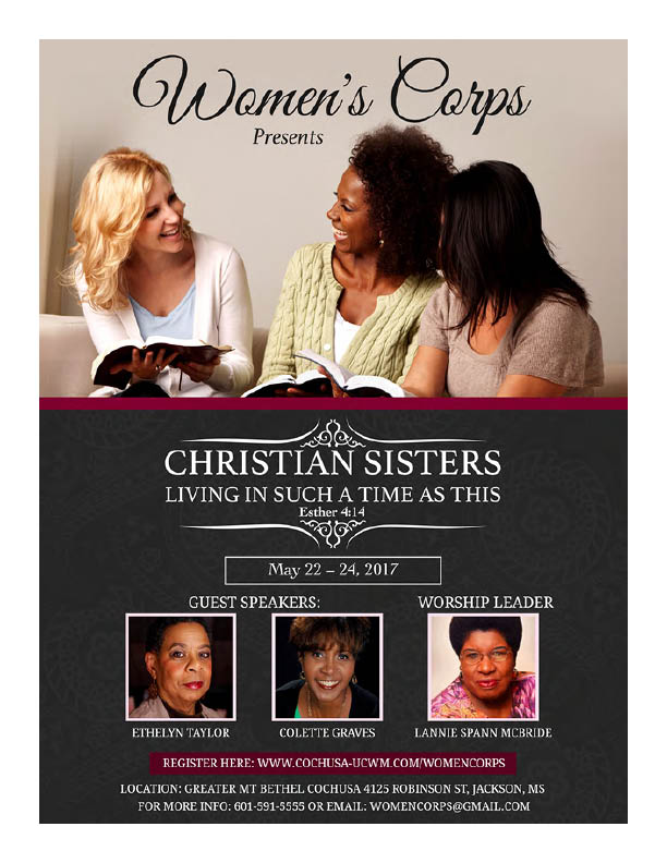 Women's Corp - Christian Sisters @ Greater MT Bethel COCHUSA   Jackson   Mississippi   United States