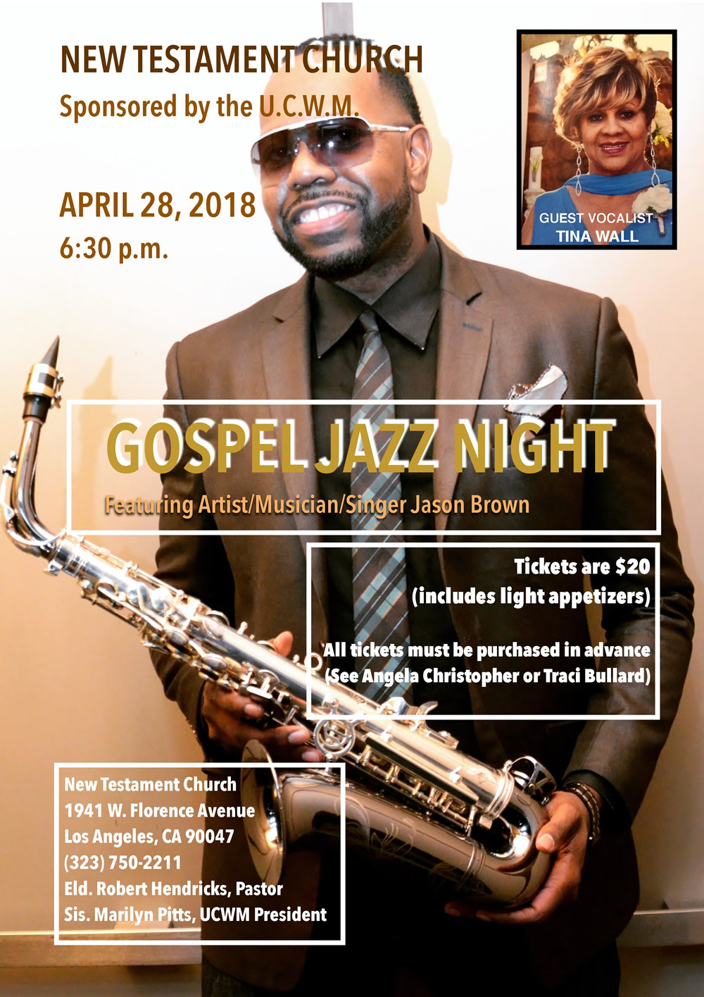 Gospel Jazz Night @ New Testament Church