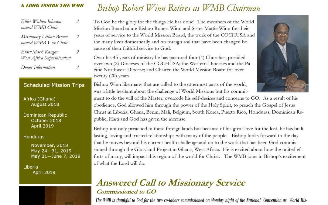 WMB COCHUSA News